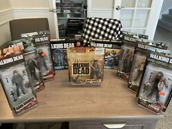 Mcfarlane Toys Walking Dead Amc Series 1, 3, 8 And 7 - Figure Collectibles Lot Set