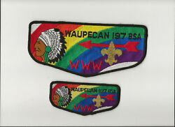 Waupecan Oa Lodge 197 S- Flap And Jacket Patch - Boy Scout Bsa A132/8-20