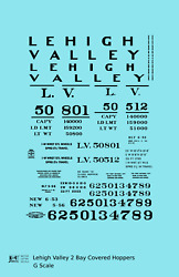K4 G 132 Decals Lehigh Valley Two Bay Covered Hopper Black