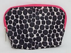 Modella Cosmetic Travel Makeup Bag Zippered Pouch Pink Black White Spots 4.5quot;×3quot; $11.99