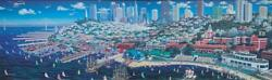 Alexander Chen Hand Signed Giclee San Francisco Panorama Listed Nice