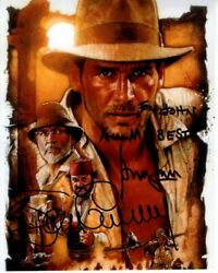 Sean Connery And Harrison Ford Signed Indiana Jones Photograph - To John