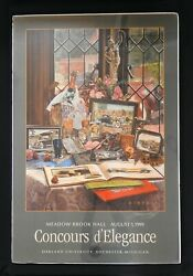 Signed 1999 Meadow Brook Hall Concours Poster Packard Mascot Dietz