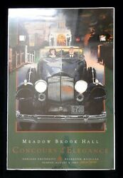 Signed 1993 Meadow Brook Hall Concours Poster Packard Phaeton Bergandi