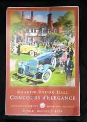 Signed 1994 Meadow Brook Hall Concours Poster Dallison Pierce-arrow