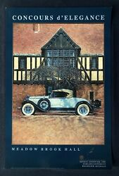 Signed 1989 Meadow Brook Hall Concours Poster Packard 734 Speedster