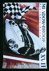 2001 Meadow Brook Historic Races Xvii Cunningham C4-r Fine Art Poster Couch