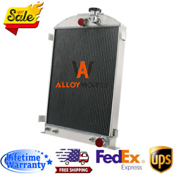 4 Row Aluminum Radiator Fits Ford Model A 28 Stock Height Chevy Engine 1935-36
