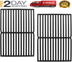 New 2pcs 15'' Cast Iron Cooking Grid Grates For Weber 7522 7521 Genesis Silver A