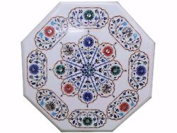 36 Marble Center Table Top Stone Inlay Handmade Work For Home Decor