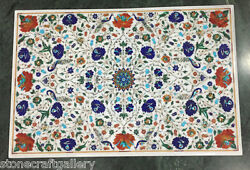36 X 24 Marble Coffee Center Table Top Marble Inlay Pietra Dura For Home Decor