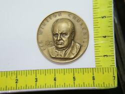 Sir Winston Churchill High Relief Medallic Art Co Ny Large Bronze Table Medal⭐🌈