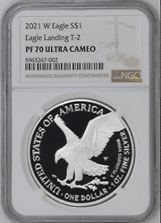 2021-w Proof 1 Type 2 American Silver Eagle Ngc Pf70uc Brown Label Buy Me