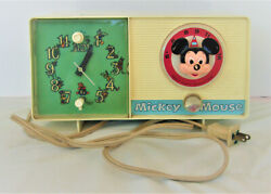 Vintage Mickey Mouse General Electric Youth Electronic Clock Radio Model C2418a