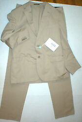 New Mens 42 Rg Nwt Designer Piombo Suit Beige Tan Italy 54 Cotton 36 35 Tall