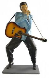 Elvis Statue - Life Size - Playing Guitar And Singing