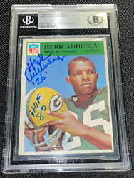 Herb Adderly Signed 1966 Philadelphia 80 Gb Packers Card Beckett Auto 456