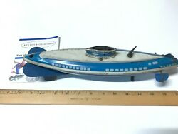 1940's Vintage Wolverine Wind Up Tin Lithograph Toy Submarine Gray/blue Rare