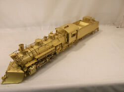 On3 Brass Omi Denver And Rio Grande Western K36 2-8-2 Loco With Plow Unpainted
