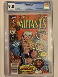 New Mutants 87 Cgc 9.8 1st App Of Cable And Stryfe Newsstand