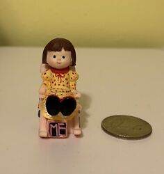 Vintage Enesco Mary Engelbreit Miniature Doll With Chair Figurine Me Ink
