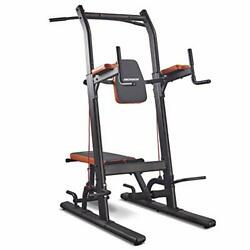 Multifunction Power Tower With Bench Dip Station Pull Up Bar For Strength Traini