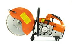 Concrete Cutter Saw For Dry And Wet Cutting Asphalt Stone 2 X 350mm Discs Erman