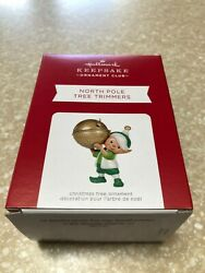 Hallmark Ornament Event Repaint North Pole Tree Trimmers 2021 Green Gold Brass