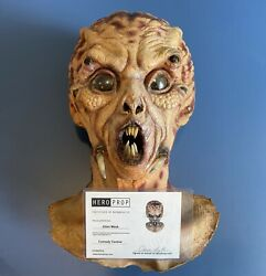 Screen Used Alien Mask Movie Prop Worn In An Episode Of Comedy Central - Coa