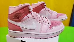 Jordan 1 Mid Digital Pink W Sizes 6.5w And 7w Fast Ship/new/authentic