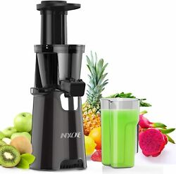 NXONE Juicer MachinesSlow Masticating Juicer Extractor Easy Clean Cold Press