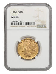 1926 10 Ngc Ms62 - Lovely Type Coin - Indian Eagle - Gold Coin