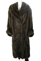 Sincerely Gidding Jenny Women's Vintage Brown Fisher Fur Coat Size Small