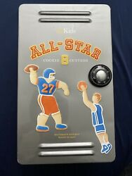 Ws Kids All-star Sports Cookie Cutters 7 Piece Cookie Cutters With Metal Locker
