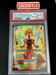 2021 Dragon Ball S Ss2 Gohan Pushed To The Brink Pre-release Bt13 Psa 10 Pop 1