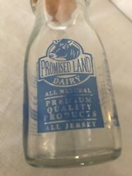 Promised Land Dairy Pint Size Milk Bottle With Fairview Dairy Bottle Cap