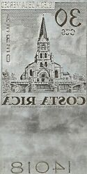 American Bank Note Company Costa Rica Printing Plate C-456 Cathedral