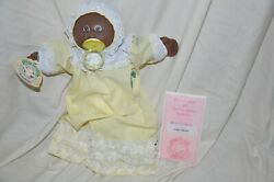 Vintage Rare African American Black Cabbage Patch Doll 1980s Birth Certificate