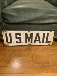 Original Us Mail Advertising Sign Double Sided.