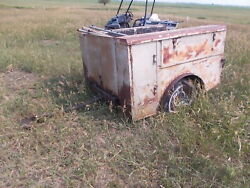 Vintage Chevy Dodge Ford Short Box Pickup Truck Body Dually 6and039 Utility Bed As Is