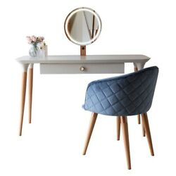 2-piece Homedock Vanity Dressing Table With Mirror Led Lights And Kari Accent