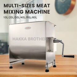 Hakka Commercial Meat Mixer 100lb 50l Manual Food Sausage Mixing Stainless Steel