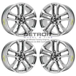 20 Ford Mustang Pvd Bright Chrome-h 4 Wheels Rims Factory Oem 10167 2018-2020