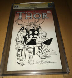 Cgc Ss 9.8 The Mighty Thor 1 Thor Sketch Art Cover By Sal Buscema Rare Htf