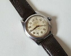 Vintage Stainless Steel Rolex Oyster Speedking Precision Sold For Repair