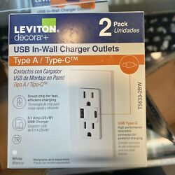 15 Amp Decora Tamper-resistant Duplex Outlet With Type A And C Usb Charger Whit