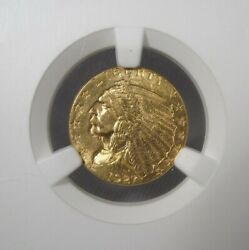 1927 Ngc Ms63 Cac 2.50 Indian Quarter Eagle Gold Certified Coin Ak389