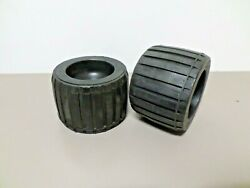 2 - Boat Trailer Wobble Rollers Ribbed 4-1/2 Diameter X 3-3/16 Wide X 7/8 Bore