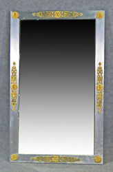 Steel And Brass John Vesey Style French Directoire Wall Mirror C1960