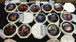 Star Trek The Next Gen 5th Anniversary Plate Collection With 3 Additional Plates